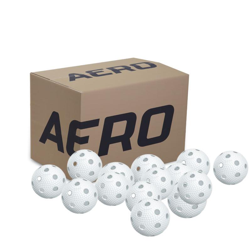 Aero Plus Floorball 200 pcs White